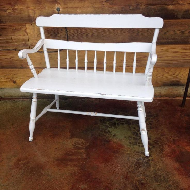 Chair bench makeover from The Nest located in Bonners Ferry Idaho using Superior Paint Co. Bone White Chalk Furniture Paint
