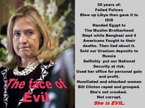 SHE WAS NOT FIT TO BE SECRETARY OF STATE AND DEFINITELY NOT FIT TO BE PRESIDENT! SHE BELONGS IN JAIL!!