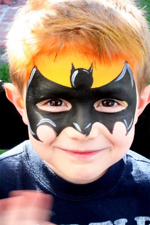 cool batman face painting pinterest batman. Black Bedroom Furniture Sets. Home Design Ideas