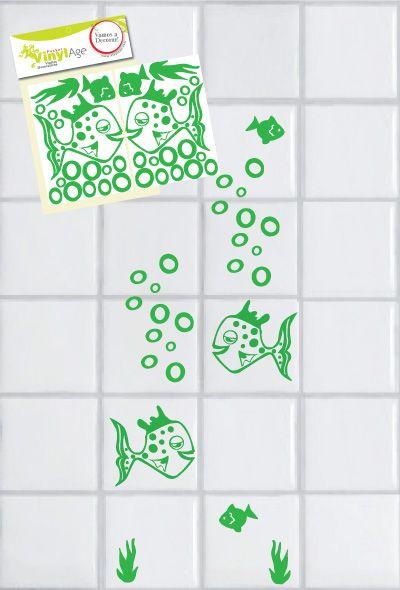 Mejores 58 im genes de pegatinas decorativas en el ba o - Pegatinas para azulejos ...
