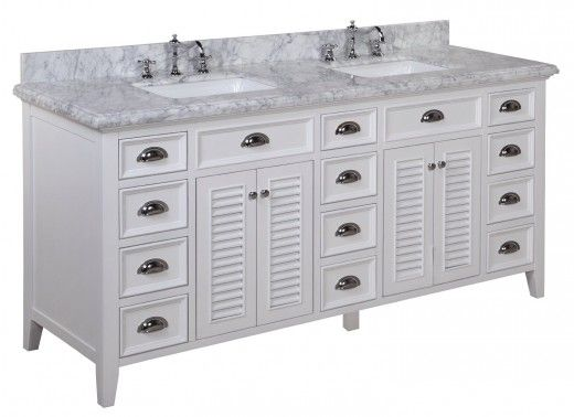 Kitchen Bath Collection Savannah Bathroom Vanity With Marble Countertop,  Cabinet With Soft Close Function And Undermount Ceramic Sink, Carrara/White,