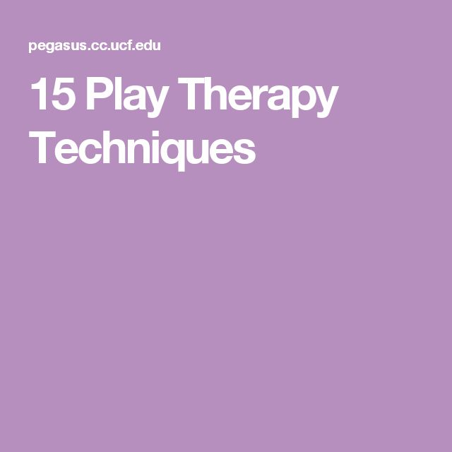 15 Play Therapy Techniques