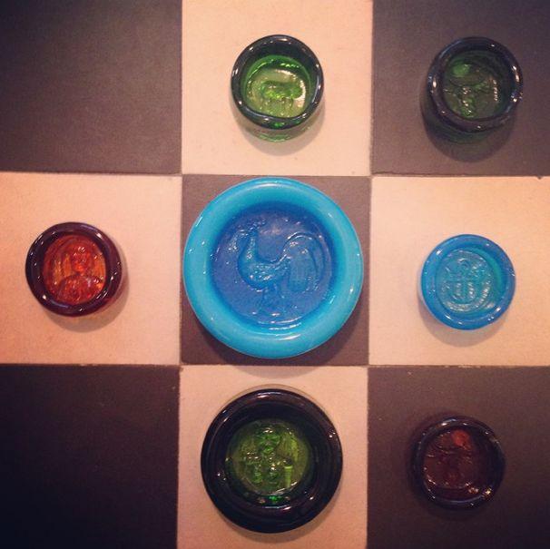 "Ashtrays. Swedish glass artist Erik Höglund for Boda. Visit ""nonamevintageshop"" on instagram for moore. http://instagram.com/p/ye4ykUO8oB/?modal=true"