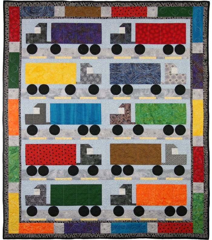 I Love Semi Trucks Quilt Pattern PAD-133 (advanced beginner, lap and throw)