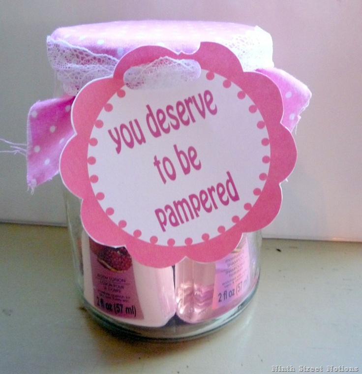 Pampering in a Jar Gift - with free printable!