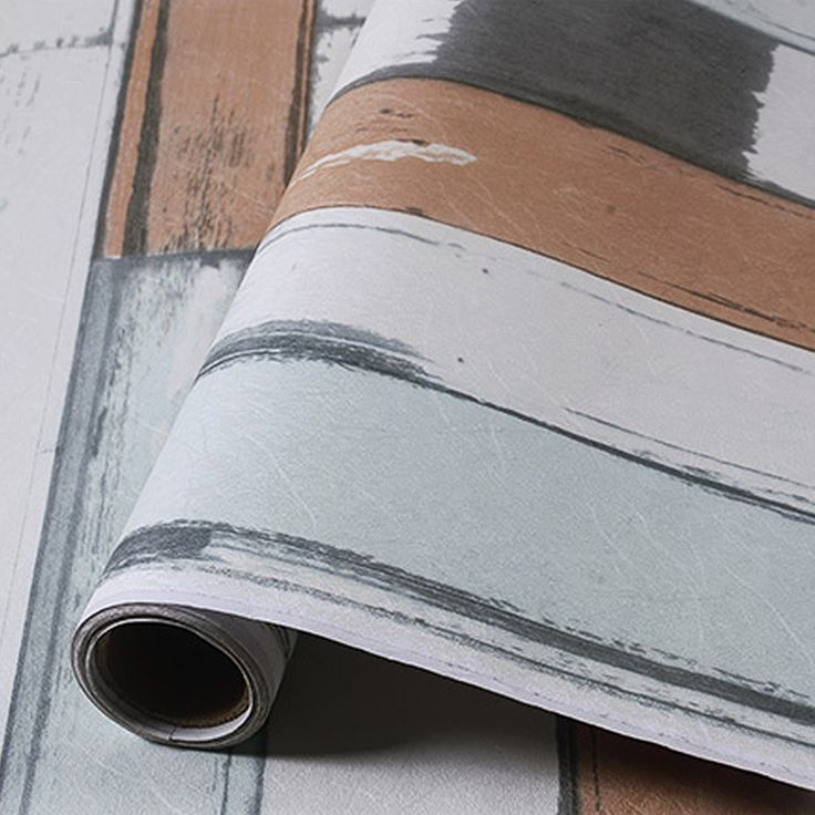 yazi 60x300CM Roll Graining Wallpaper PVC Vinyl Wallpapers Mural Mediterranean Style Wood Pattern Design Wall Sticker