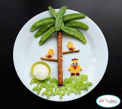 cute snack plate
