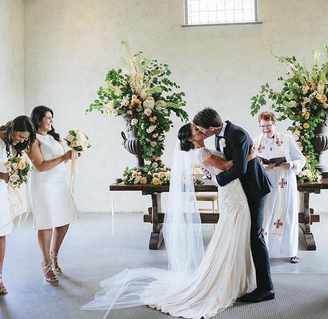 Wedding ceremony •• wedding kiss    stones of the Yarra valley