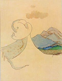 """joni mitchell's """"The Mountain Loves the Sea"""".  also the cover of her Court and Spark album."""