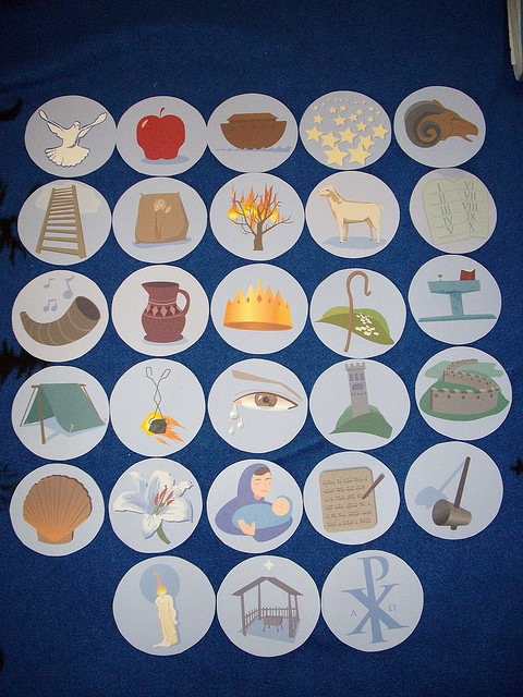 Jesse Tree markers- another way for Charlie to understand the true meaning of the Advent season as well as  Christmas