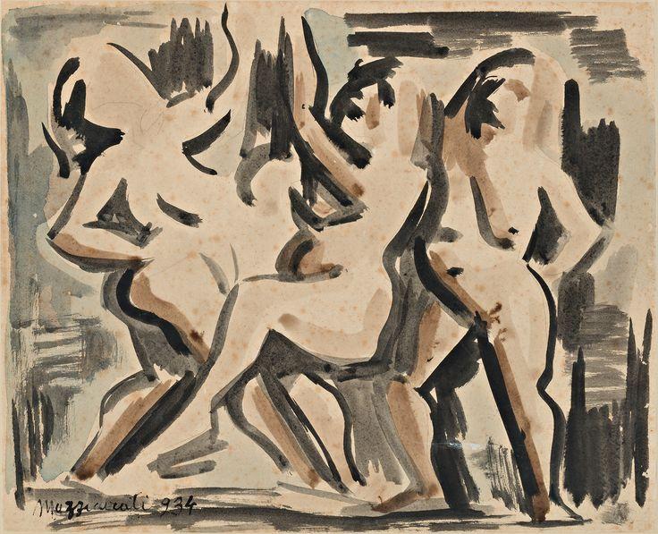 """1934.07.07 Renato Marino Mazzacurati, """"Tre donne"""" #mazzacurati #renatomarinomazzacurati"""