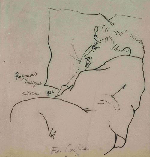 Jean Cocteau, Raymond Radiguet endormi, 1922