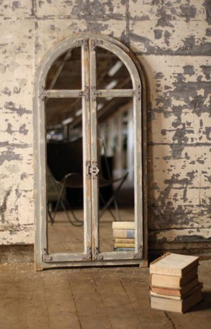 Mirror with arched wooden frame ccg1026 mirror with for Types of mirror frames