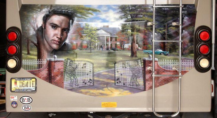 Elvis Rv Mural Custom Paint Rv Motorhomes Motorhome