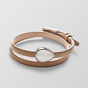 Skagen. Sea Glass Leather Bracelet