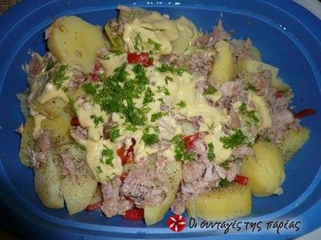 Σαλάτα-γεύμα θα'λεγα, κι αν συνοδευτεί με σαντουιτσάκια και άλλη μια ...σαλάτα πρασινάδα είναι τέλεια για πικ νικ!