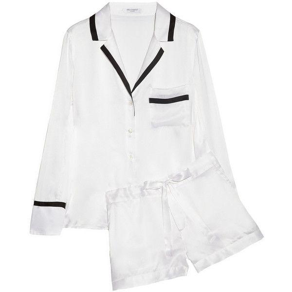 Equipment Jasper brushed-silk pajama set ($485) found on Polyvore