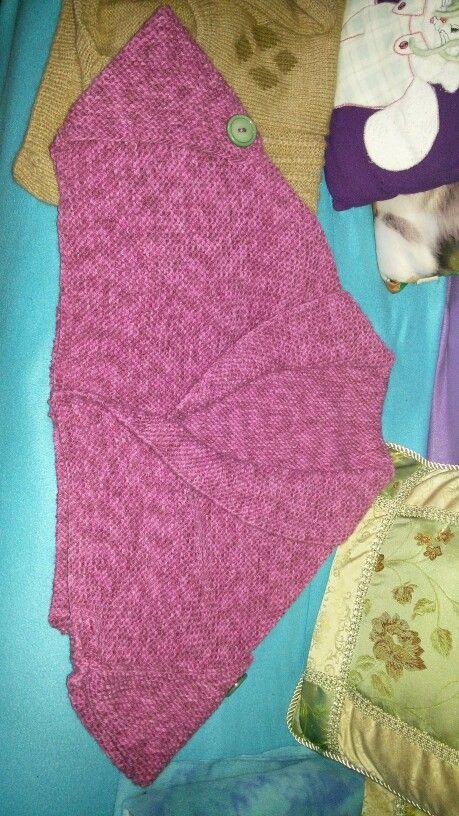 Coprispalle fatto a maglia