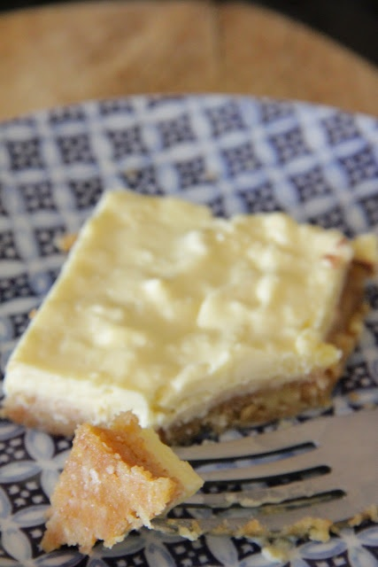 My Happy Place...: thick & creamy lemon coconut cheesecake squares