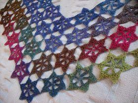 """Mmatildas virkstad: Min egen """"seamless crochet"""" 2: stor stjärna"""