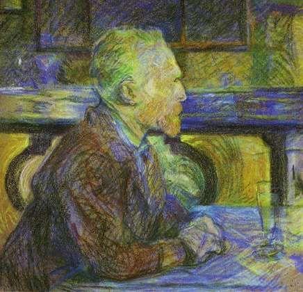 Portrait of Van Gogh - Toulouse-Lautrec