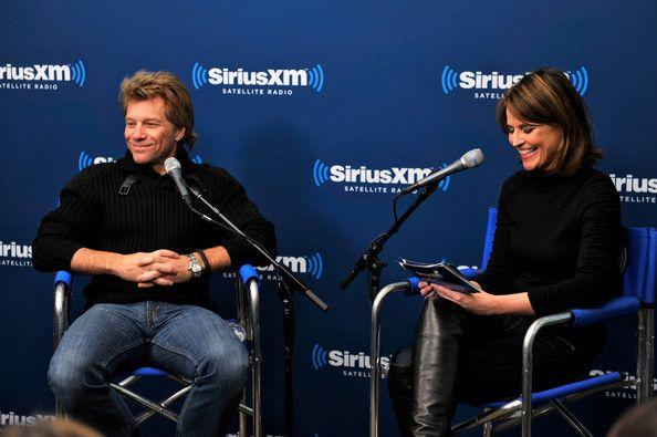 """Jon Bon Jovi Photos - Jon Bon Jovi and Savannah Guthrie attend """"SiriusXM's Town Hall with Jon Bon Jovi"""" and moderator Savannah Guthrie at the SiriusXM studios on February 4, 2013 in New York City. - """"SiriusXM's Town Hall With Jon Bon Jovi"""" And Moderator Savannah Guthrie At The SiriusXM Studios"""