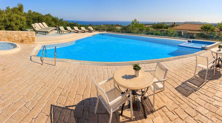 #Breakfast by the #pool #PaliokalivaVillage #Zakynthos #Zante #Greece