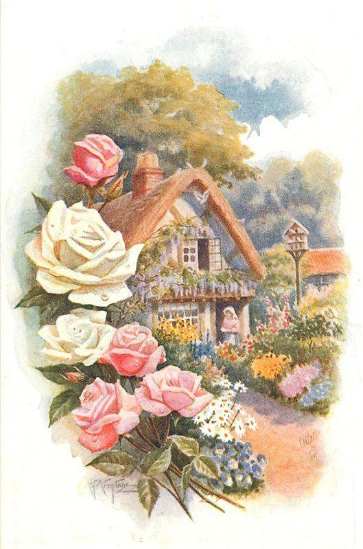 Природа на старинных открытках, небе картинки анимации
