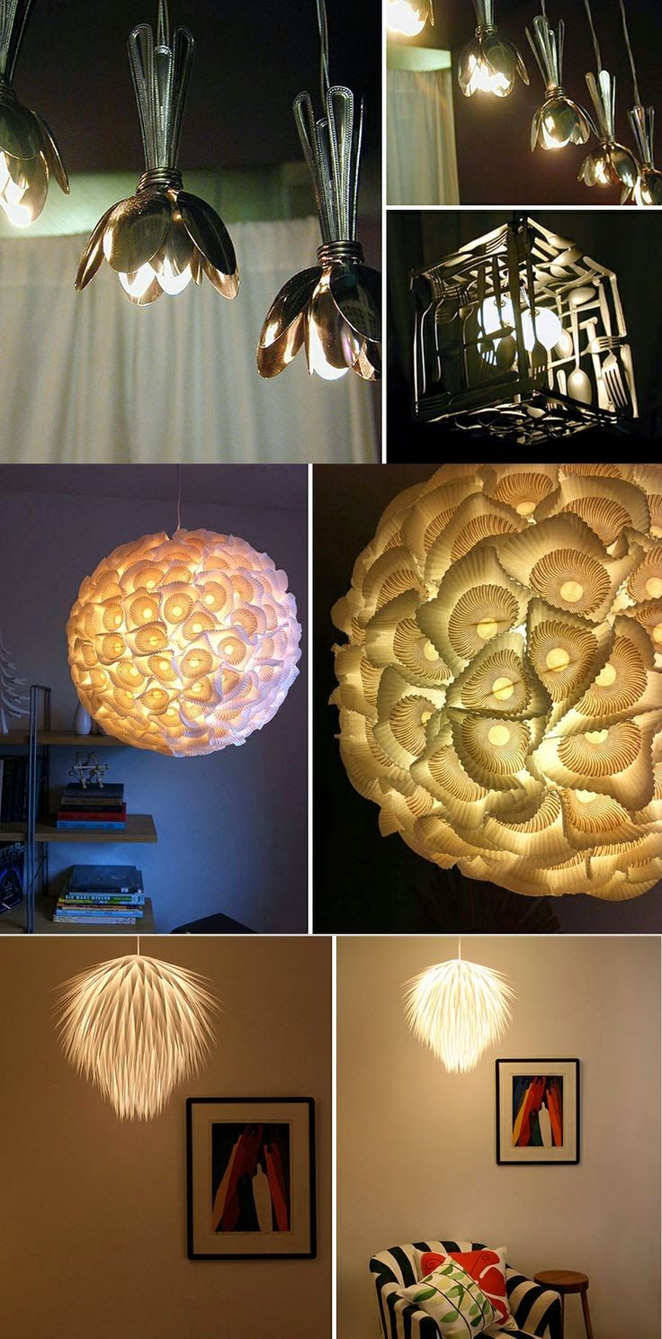 21 DIY Lamps And Chandeliers Made Of Everyday Objects