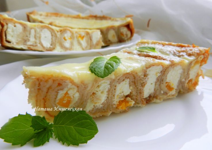 Пирог блинный с заварным кремом