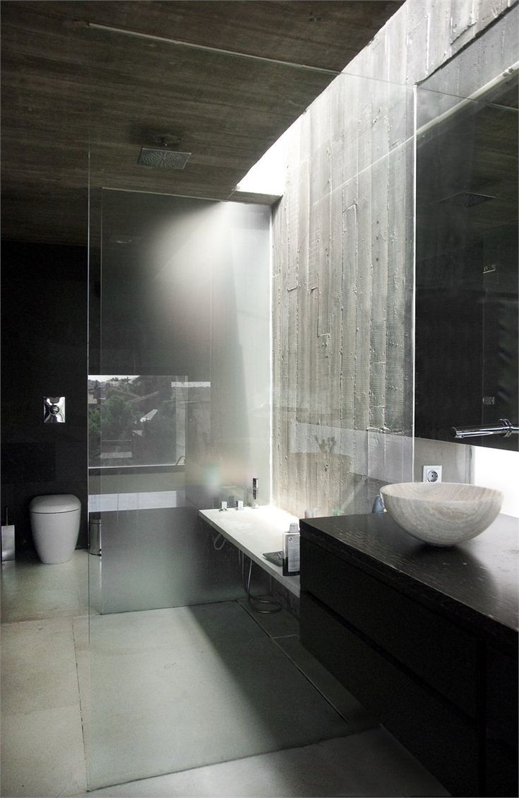 ♂ Modern interior design minimalist bathroom