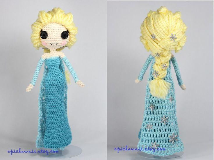 Snow Queen Elsa Disney's Frozen crochet amigurumi by Npantz22.deviantart.com on @deviantART