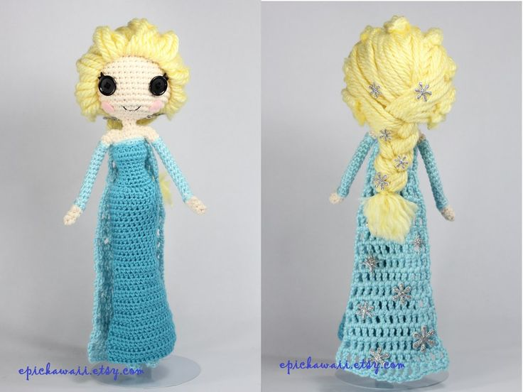 Snow Queen Elsa Disney's Frozen crochet amigurumi by Npantz22.deviantart.com on @deviantART