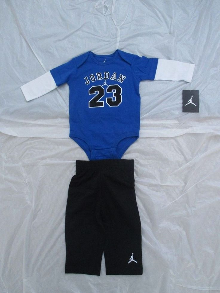 Nike Jordan Flight Baby Boy Infant Bodysuits 2 Piece Set Style New. Find  this Pin and ...