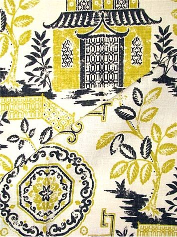 Teahouse Canary   Richloom Fabric U2013 Platinum Collection. Beautiful  Chinoiserie Print For Window Treatments Or