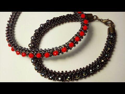 Браслет из бисера и бусин. Armband aus Perlen und Perlen – …