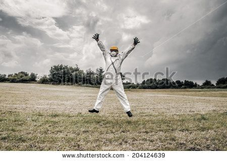 Happy Worker Jumping In The Air Lagerfoto 204124639 : Shutterstock