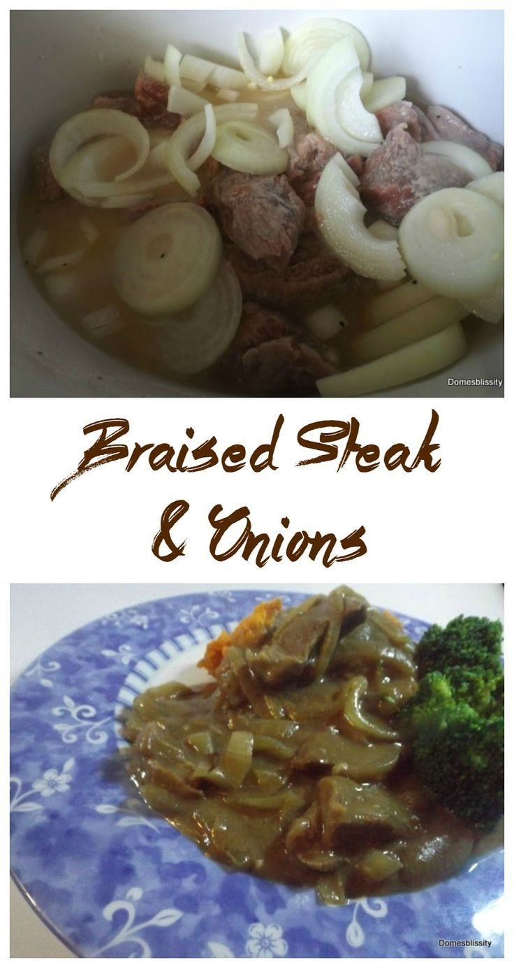 Braised steak and onions using the slow cooker - Domesblissity