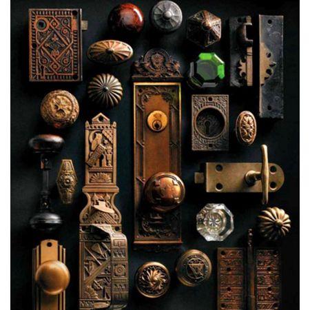 Vintage Vignettes - The Cottage Market - vintage knobs and hinges as art. could you imagine necklaces hanging off here?