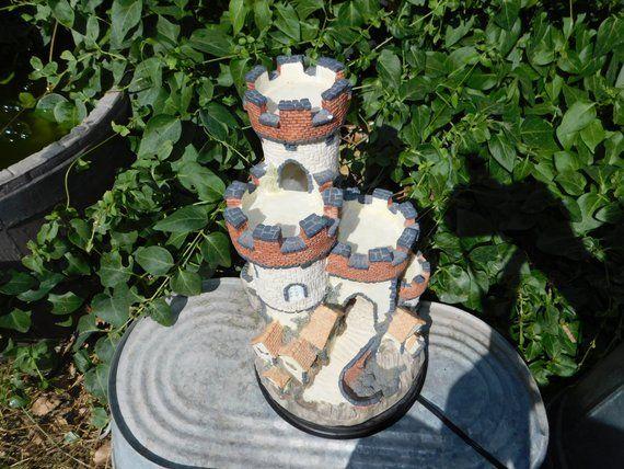 Castle Resin Lamp, Vintage Castle Lamp, Castle Lamp, Castle, Vintage Home Decor,:)s – A A Amazing Shopping From Etsy Best