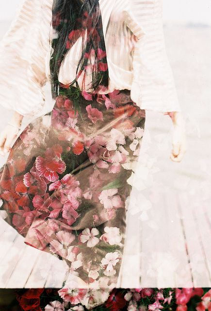 by .von., via Flickr- flower double exposures