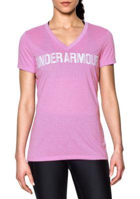 Under Armour Women's Threadborne Short Sleeve Tee - Icelandic Rose/White - Xl