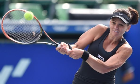 9/18/14 Casey Dellacqua advances to QFs after def. Qualifier Marina Erakovic of New Zealand 6-2, 6-4 in  their women's singles 2nd round match at the Pan Pacific Open tennis tournament in Tokyo.