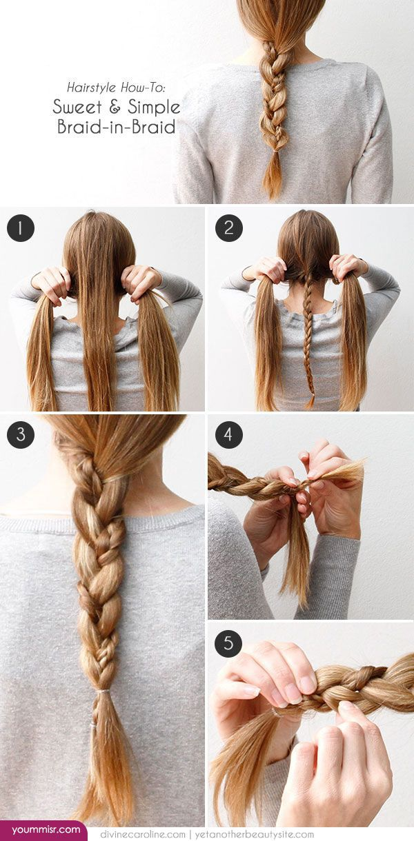 easy braids for school - photo #41