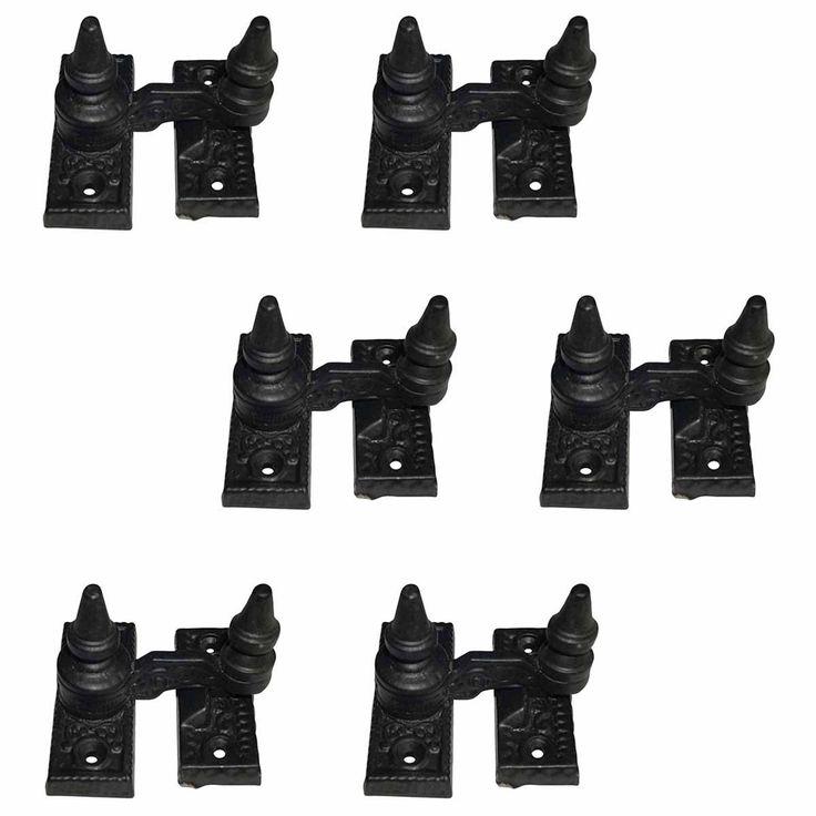 6 Vintage Sash Window Lock Black Cast Iron | Renovator's Supply (Renovator's Supply Black)