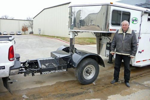 """""""The Automated Safety Hitch, adds an axle to your pickup truck for turning tighter with gooseneck and 5th wheel trailers, 50% improvement in braking, tow gooseneck with a SUV, inline dually, improve youGooseneck Horse Trailers, 5th Wheel RVs and Flatbed Goosenecks."""" - welcome to mrtrailer.com"""