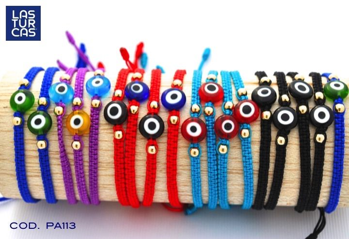 Pulseras en mercare con ojo turco #Accesorios #Lturcas #Pulseras #Ojoturco #Pulseras