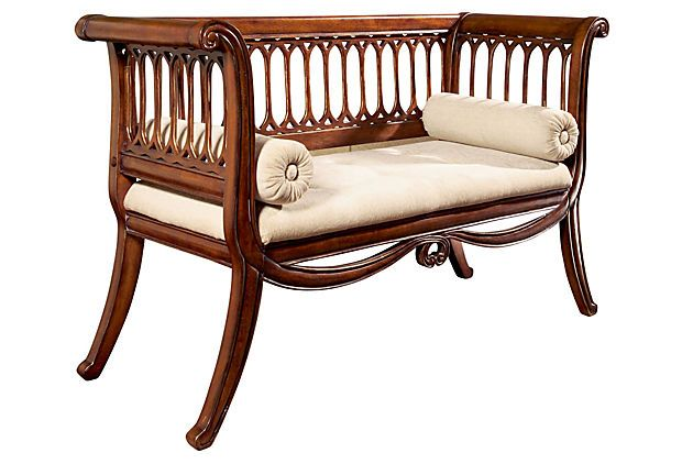 Charles English Settee, Antiqued Cherry on OneKingsLane.com