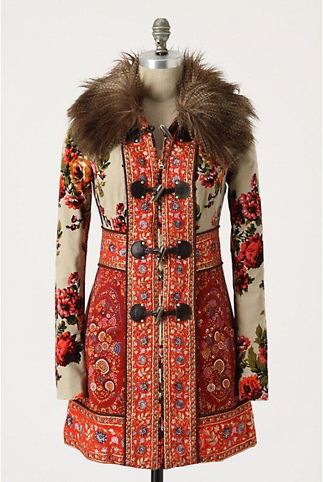 The Karelia coat, inspired by Russian tapestries