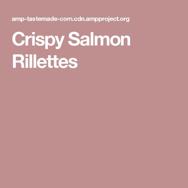 Crispy Salmon Rillettes